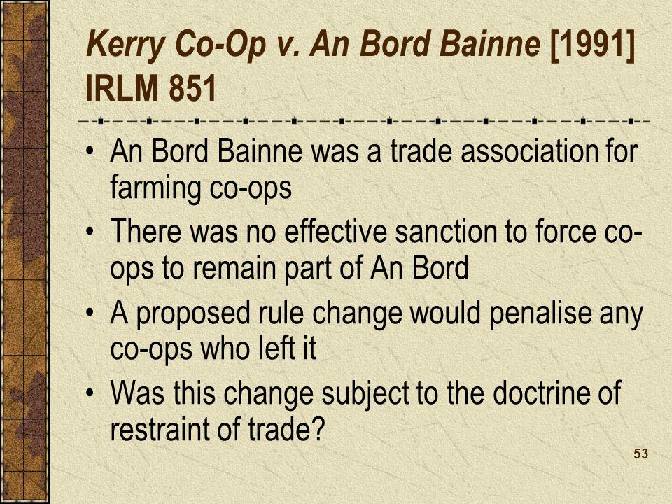 Kerry Co-Op v. An Bord Bainne [1991] IRLM 851